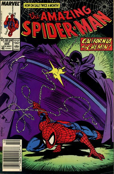 Gcd Cover The Amazing Spider Man 305 Spiderman Comic Amazing Spiderman Amazing Spider