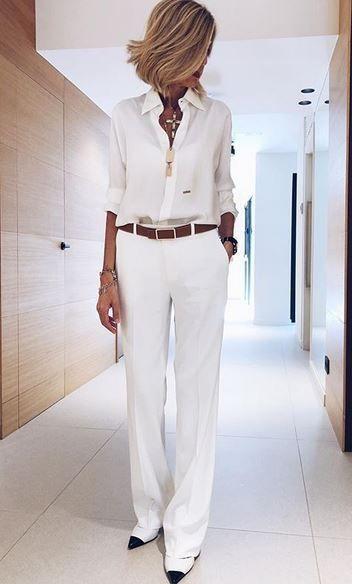 10 Ways To Wear A White Shirt - The Glossychic