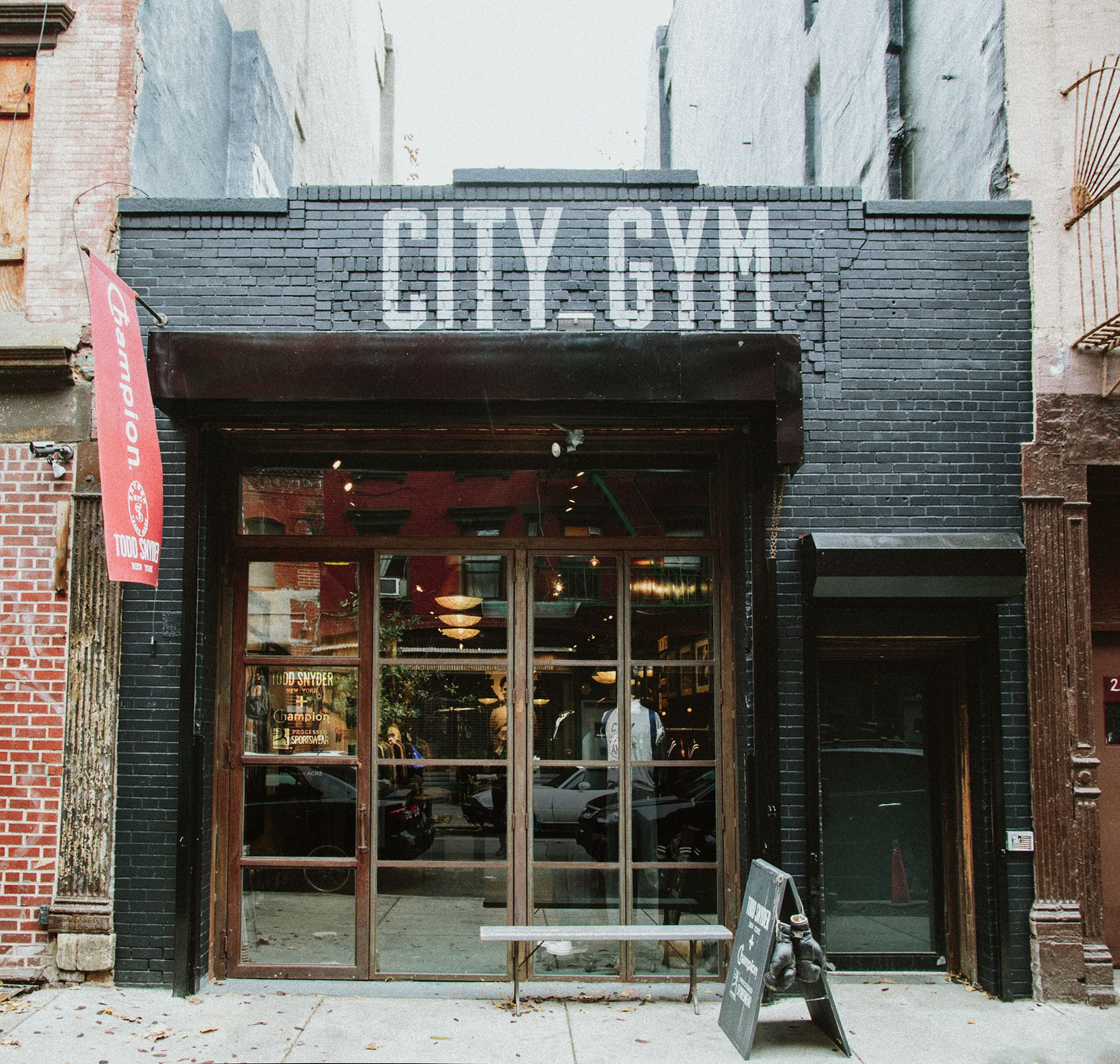 Todd snyder quot city gym in nyc store pinterest