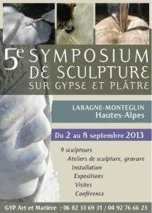LARAGNE - Jusqu'au 8 sept. - 5ème Symposium de sculpture sur gypse et plâtre
