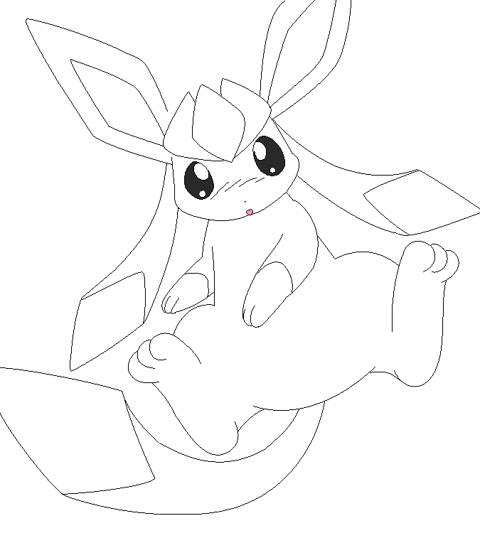 glaceon lineart 1 by michy123 on DeviantArt | LineArt: Pokemon ...
