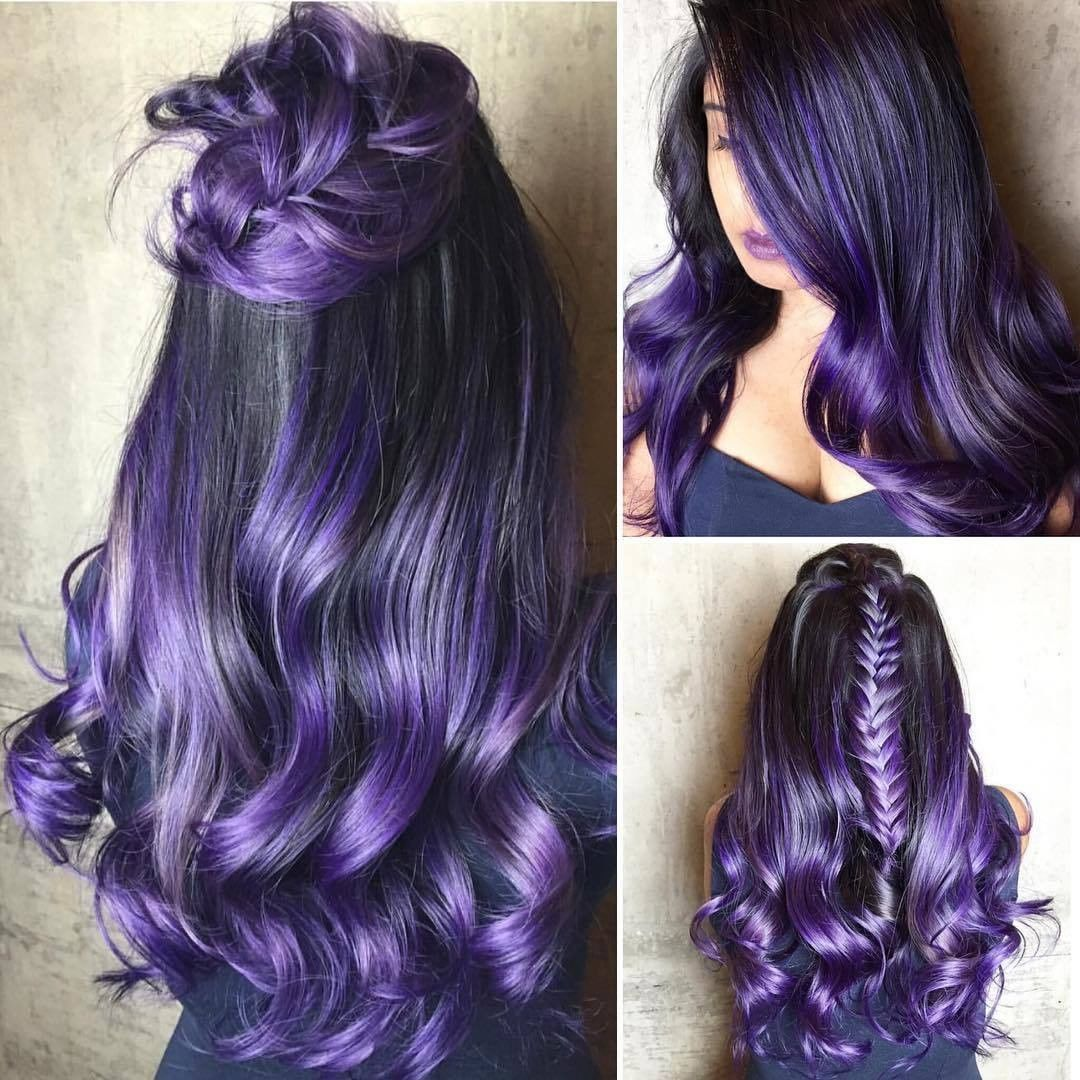 {#VPInspiration} Amazing purple hair by @hairbysarmad ...