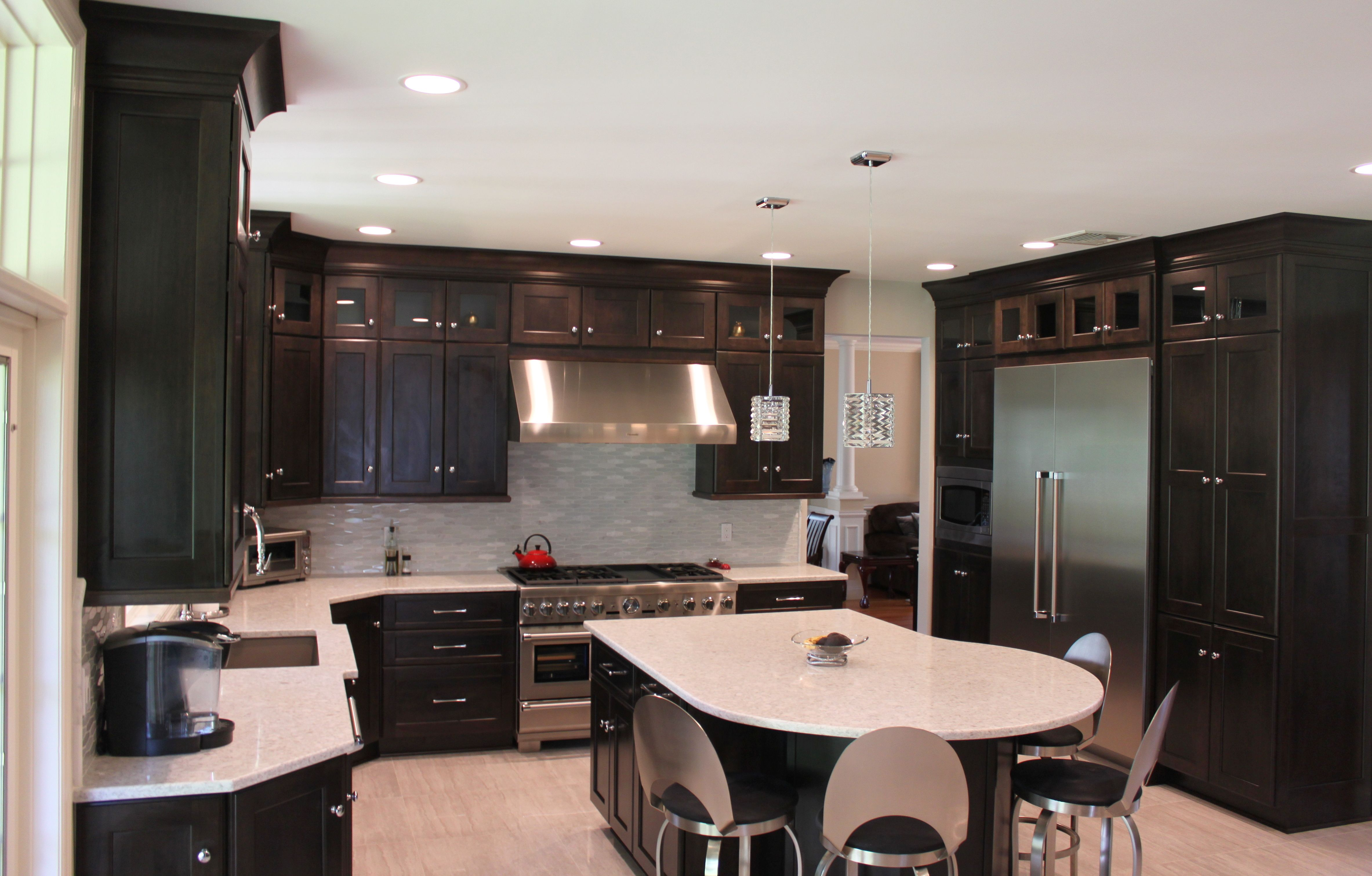Center Hall Colonial Kitchen With A Nice Open Feel Colonial Kitchen Kitchen And Bath Kitchen