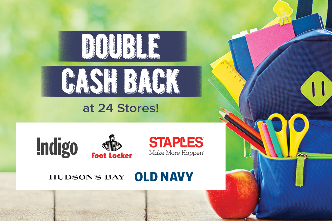 Get Back To School Cool With Ebates Ca Shop With Double Cash Back At 24 Stores Including Chapters Indigo Foot With Images Back To School Deals Back To School Family Deal
