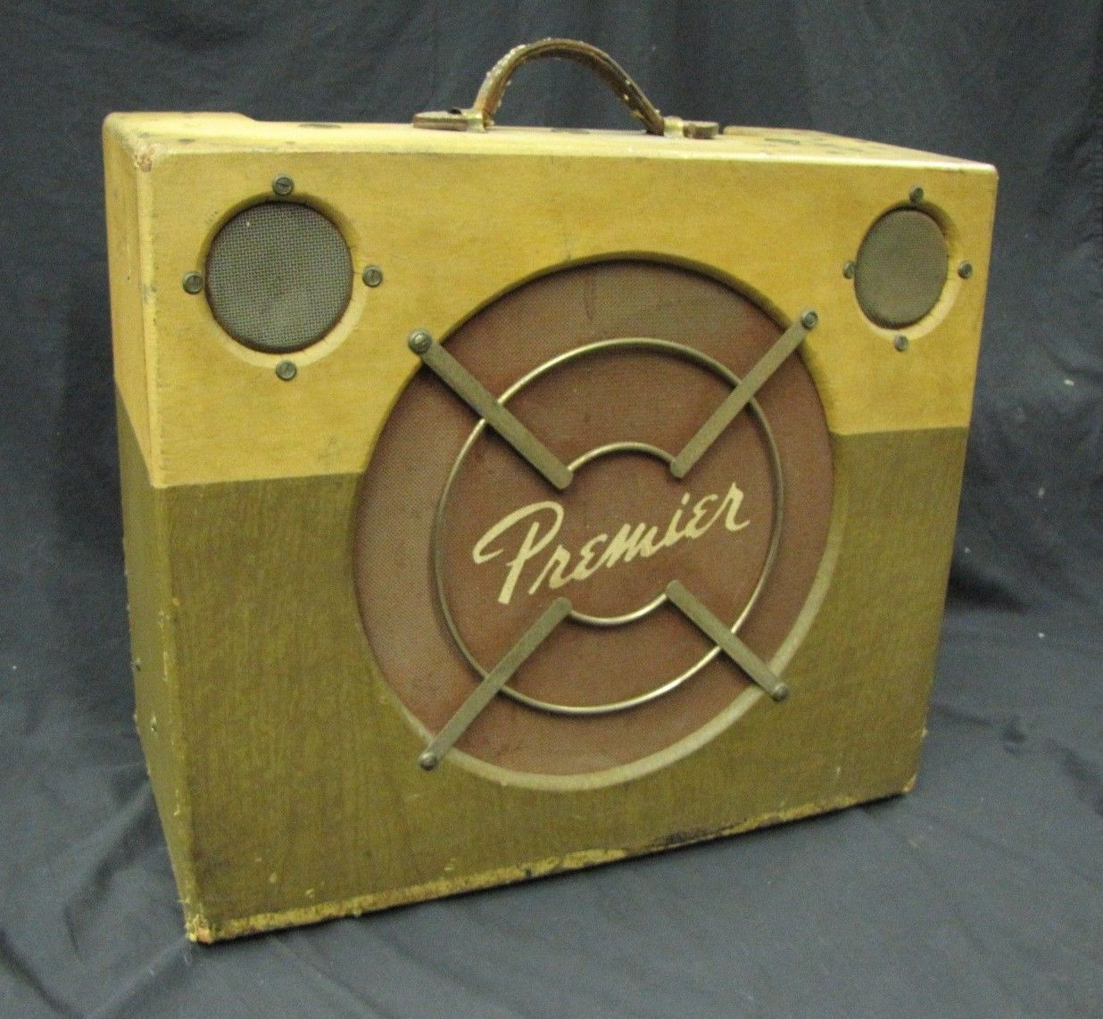 Two-Tone Green Premier Guitar Amp More