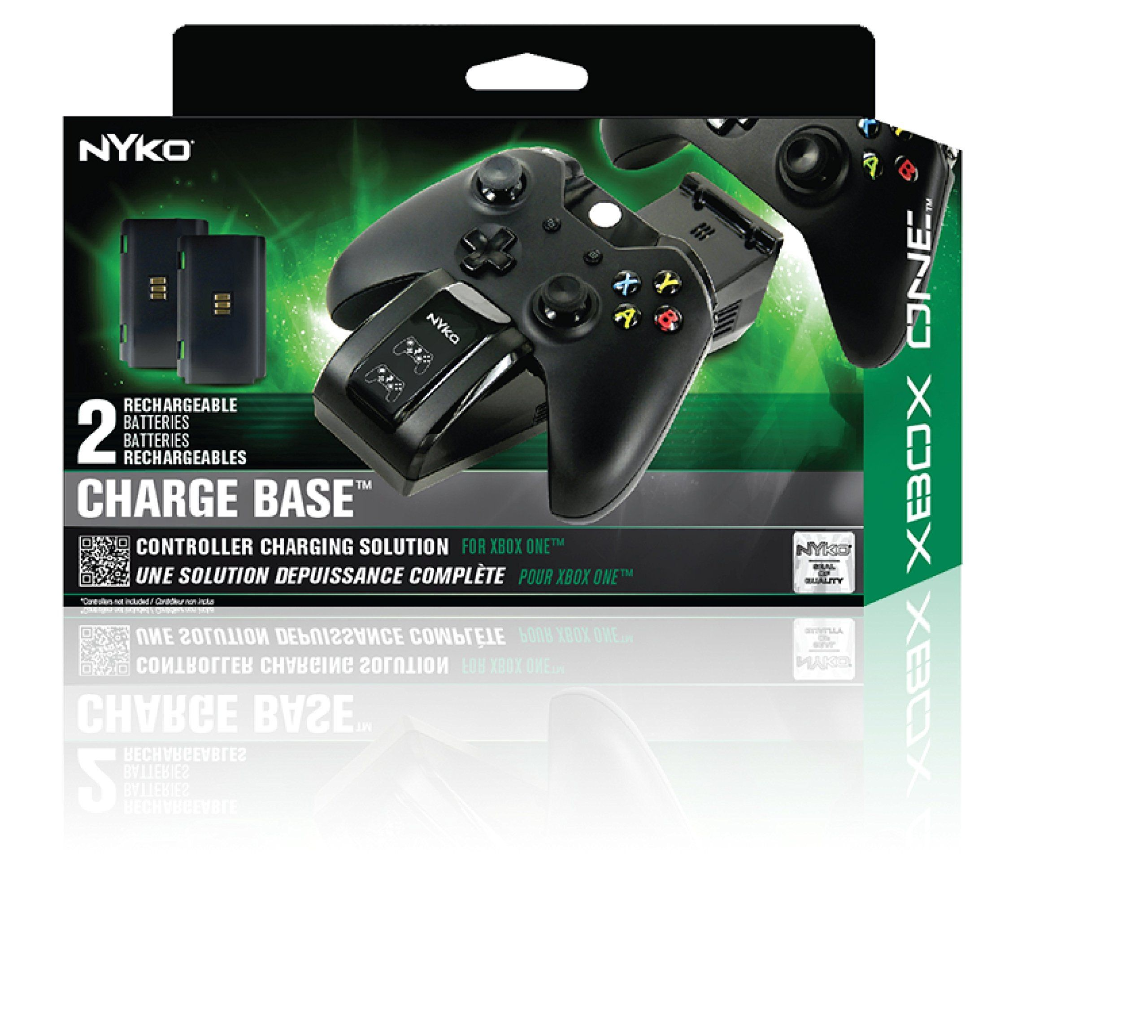 Nyko Dual Charge Base High Speed Docking Charging Station For Xbox One Xbox One S Controllers With Two Super F Charging Station Rechargeable Batteries Recharge