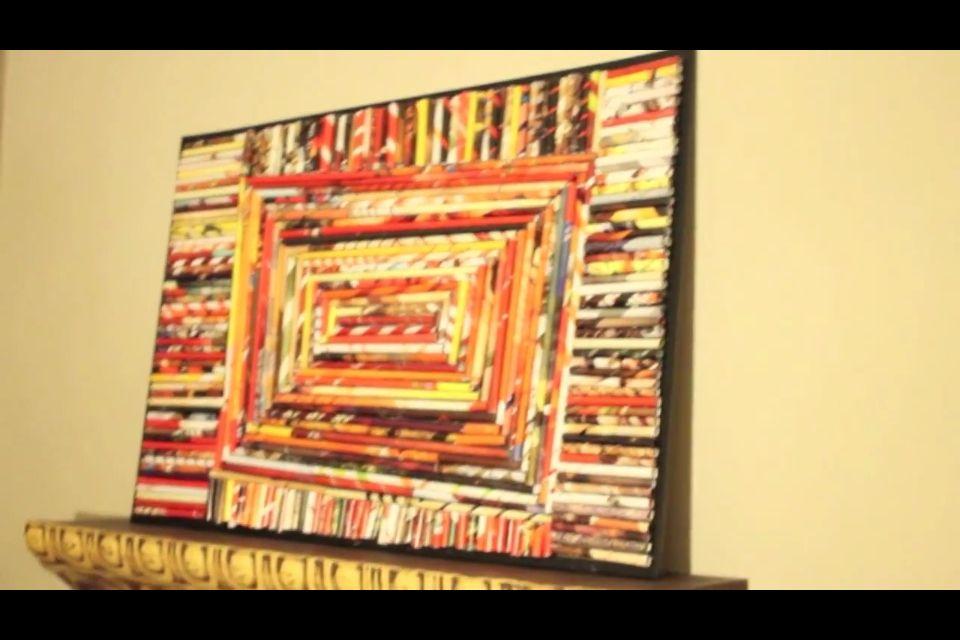 Magazine roll wall art DIY | Inspiration! | Pinterest | DIY ideas ...