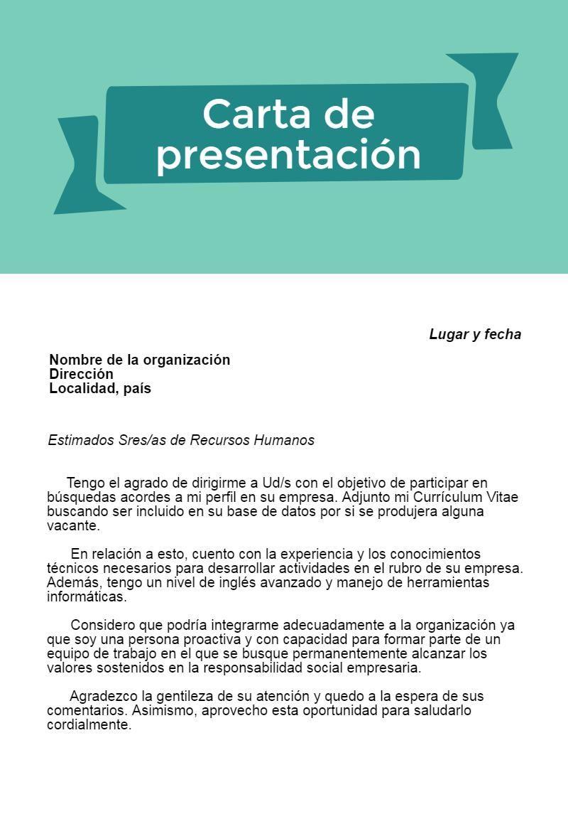Resultado de imagen para carta de presentación | CV | Pinterest ...