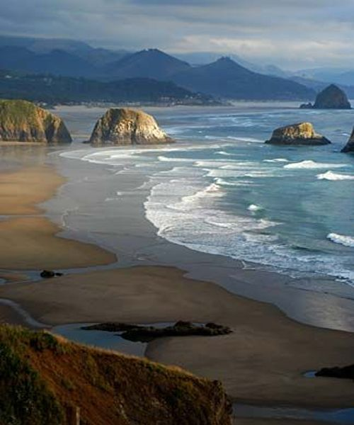 Lovely Beach of Ecola State Park - Oregon