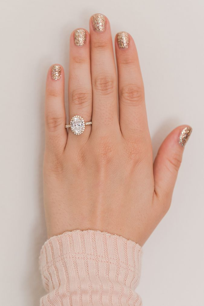 wedding bells our favorite engagement ring manicure combos lauren conrad - Lauren Conrad Wedding Ring
