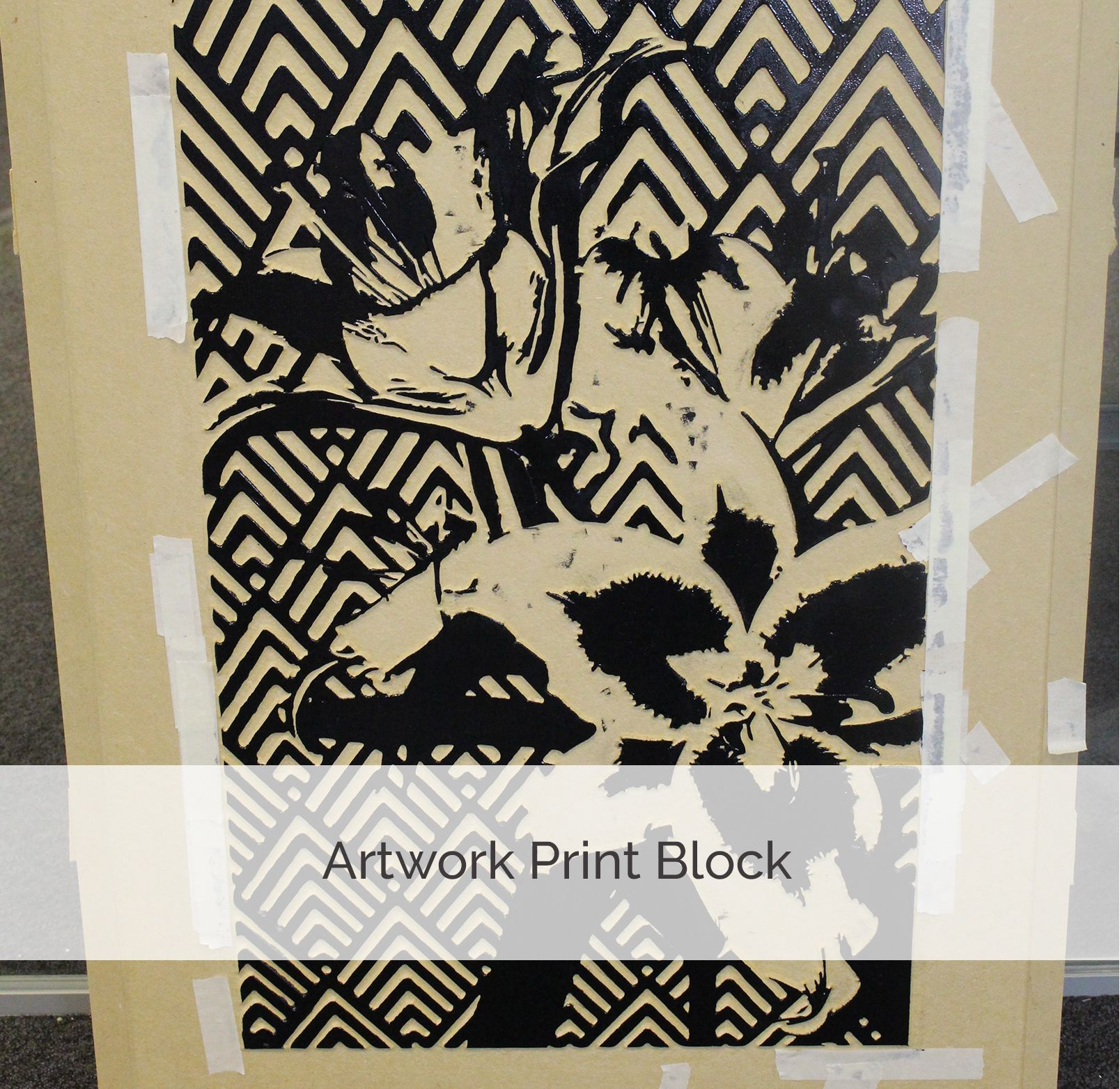 In Labs With Beki Make Your Own Art Work Wood Block Printing