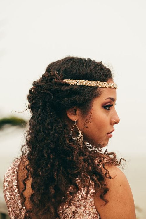 Cool 1000 Images About Naturally Curly Bridal Hairstyles On Pinterest Short Hairstyles For Black Women Fulllsitofus