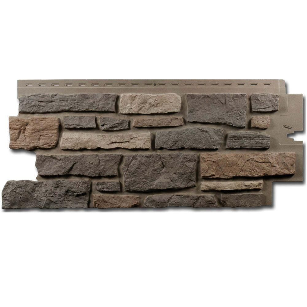 Exteria Creek Ledgestone Premium 19 25 In X 45 75 In Polypropylene Panel In Bucks County Gray Carton Of 10 28pcbc Faux Stone Veneer Stone Veneer Ledgestone