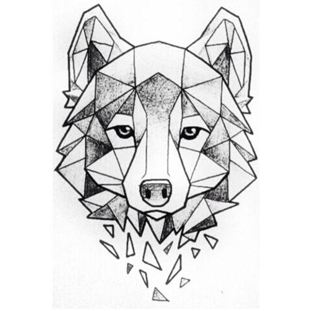 The Wolf Dibujar Arte Dibujos Abstractos Arte Geometrico