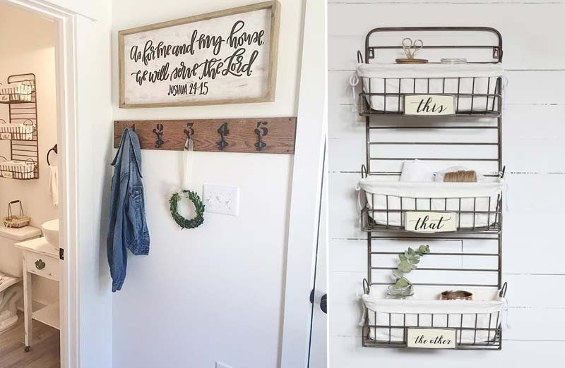 Wall Rack Organizer With 3 Baskets Organization Made Simple And Stylish Www Decorsteals Com Metal Wall Basket Basket Wall Decor Baskets On Wall