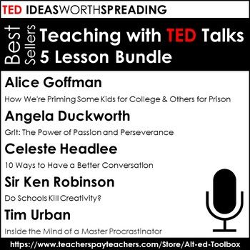 TED Talk 5 Lesson Bundle (((Bestsellers))) | Social Studies