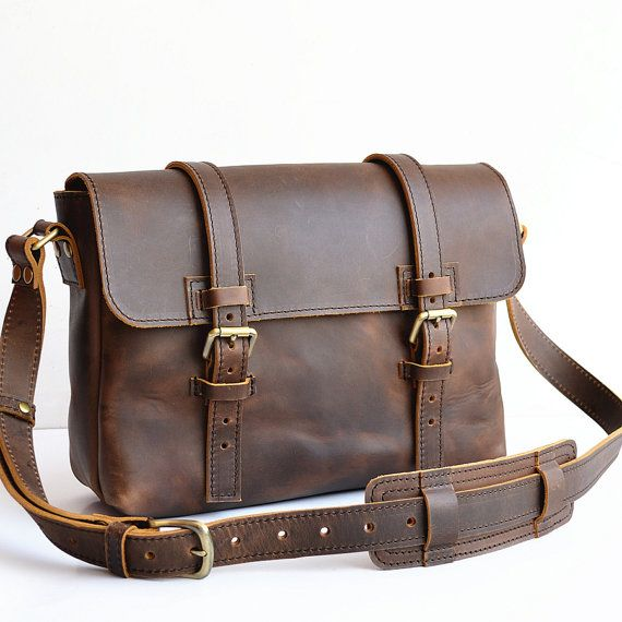 Old Fashion Mens Leather Satchel Men Mens Leather Messenger Bag Men Leather iPad Bag Handmade Leather Bag For Postal Leather Bag For Women