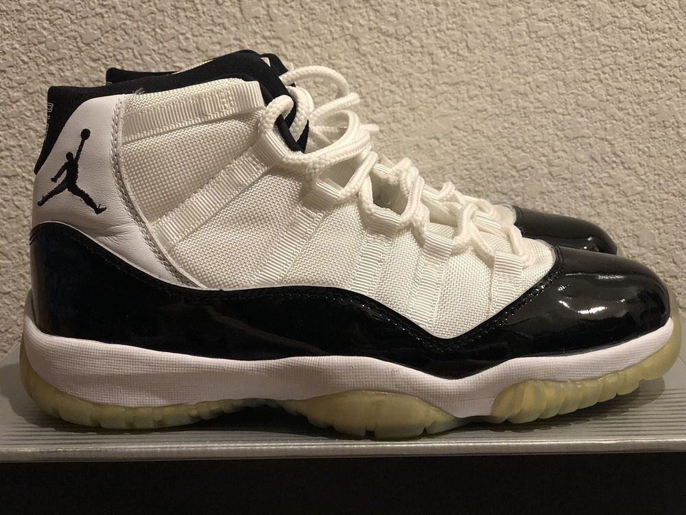 e8505ac805ef5f eBay  Sponsored VTG 2000 Nike Air Jordan XI 11 Retro Concord sz 10 White  Black DS New