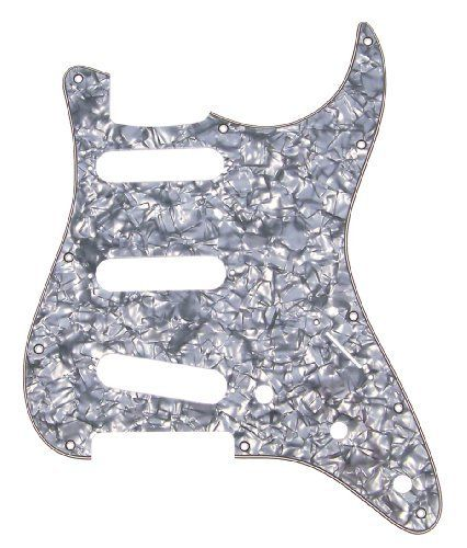Mighty Mite MM5903USB  Retrofit Strat SSS Pearloid Black 4Ply Pickguard by Mighty Mite. $26.81. Strat Style Replacement Pick guard for US & Mexican Made Fender Strat. Save 33%!