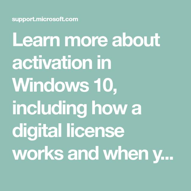 Activation in Windows 10 | organize embroidery designs | Windows 10