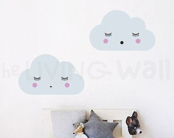 Fluffy Cloud Wall Decals Cloud Decal White Cloud By LivingWall