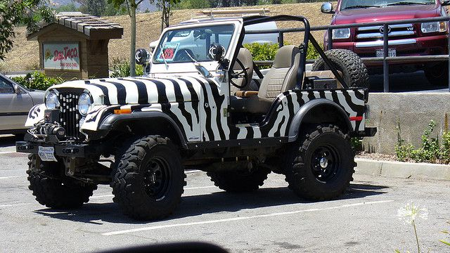 Jeep With Zebra Paint Job Someday Jeepypeepy Jeep Jeep Truck