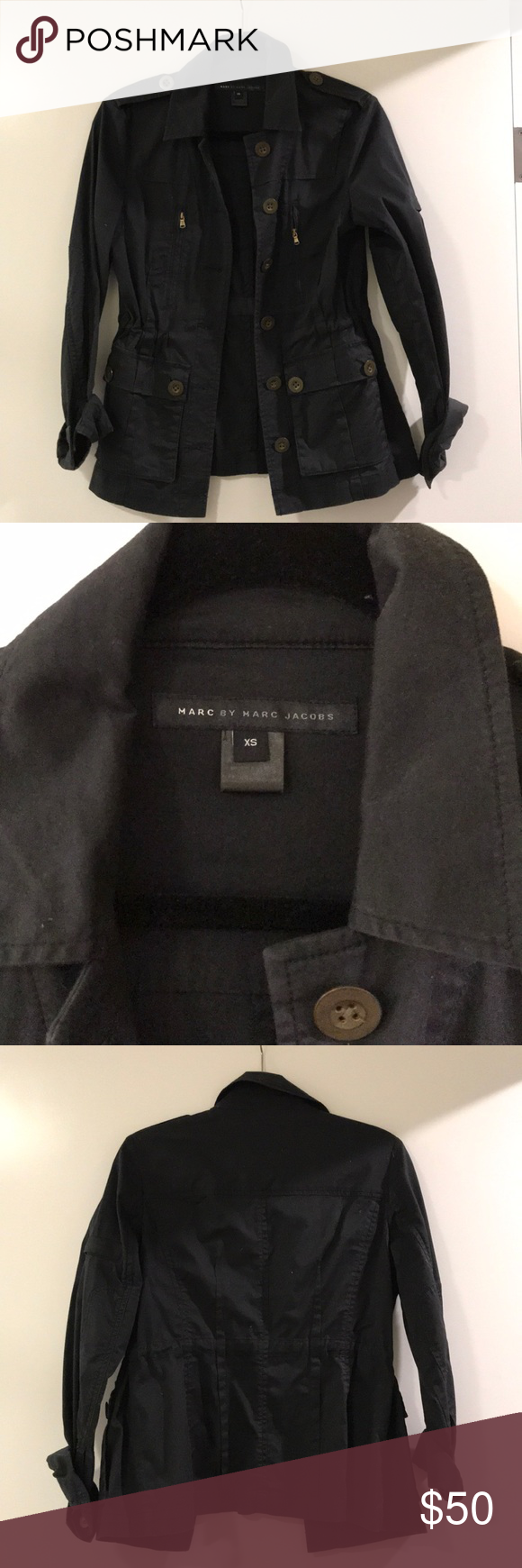 Marc by Marc Jacobs field jacket Dark blue field jacket from Marc by Marc Jacobs. In great condition and only worn twice. Marc By Marc Jacobs Jackets & Coats Utility Jackets