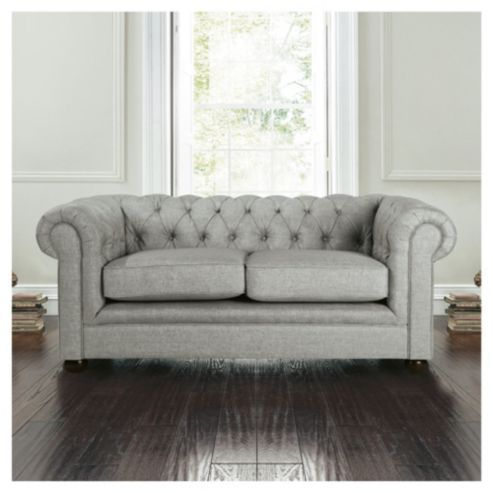 Buy Chesterfield Linen Small Sofa Silver From Our Fabric