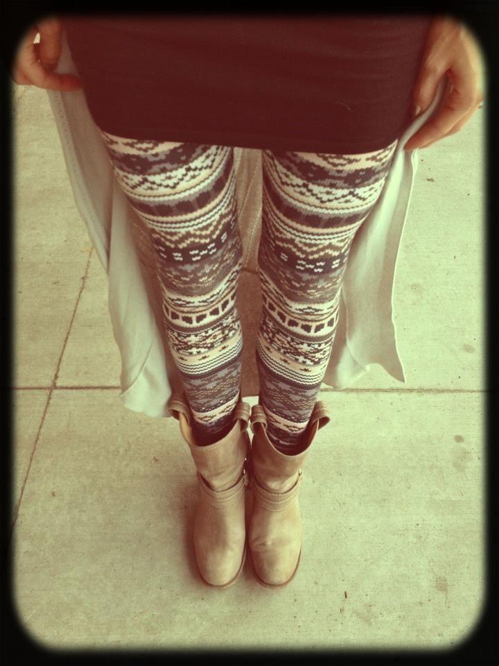 Fair Isle leggings by Splendid | OUTFIT SNAPSHOTS | Pinterest ...