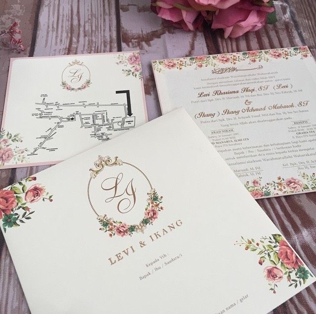 This is incredible! Unique work by Micasa Jakarta    www - wedding invitation design surabaya