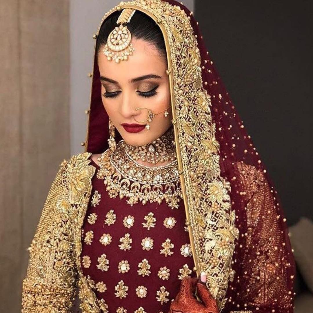 Aiman Khan Picked Again Erum Khan Couture For Her Big Day