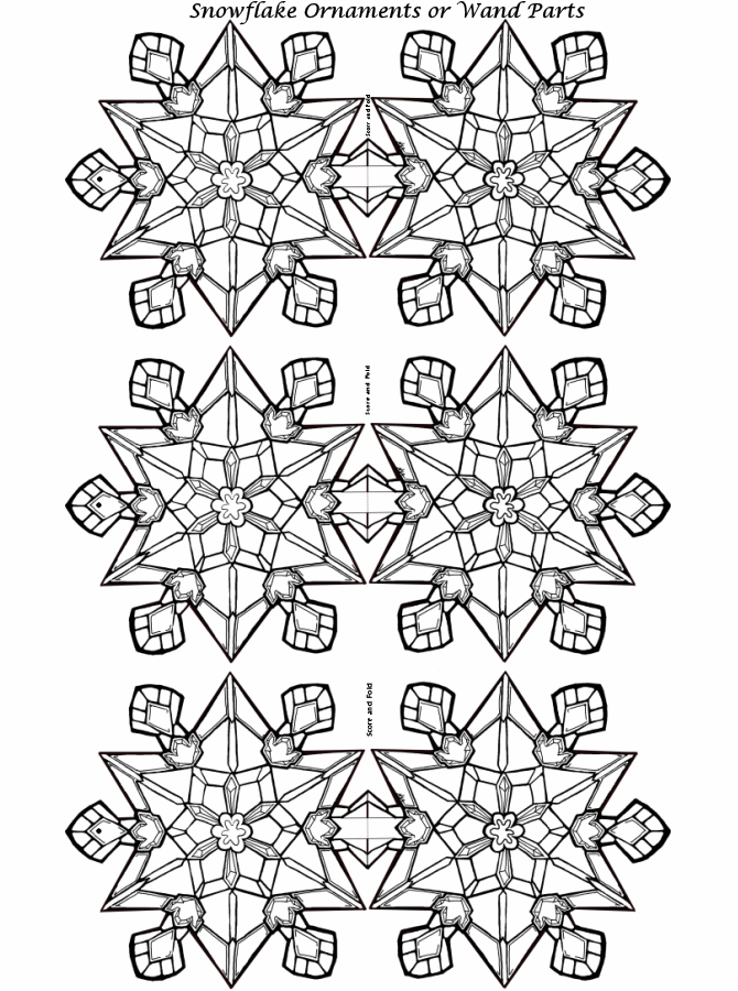 Christmas Ornament Coloring Pages Snowflake Ornaments or