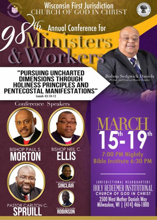 Wisconsin First Jurisdiction COGIC 98th Annual Conference for