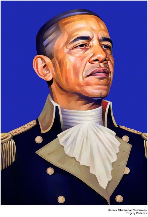 Unique Colourful Portraits Of Celebrities By Evgeny Parfenov Ultralinx Obama Art Portrait Illustration Colorful Portrait