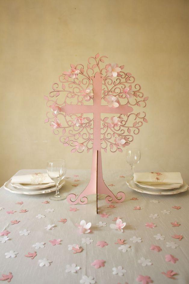 Lebensbaum Tischdeko Taufe Tree Of Life Decoration Baptism By