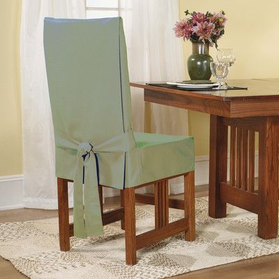 Sure Fit Cotton Duck Shorty Dining Chair Slipcover | Wayfair