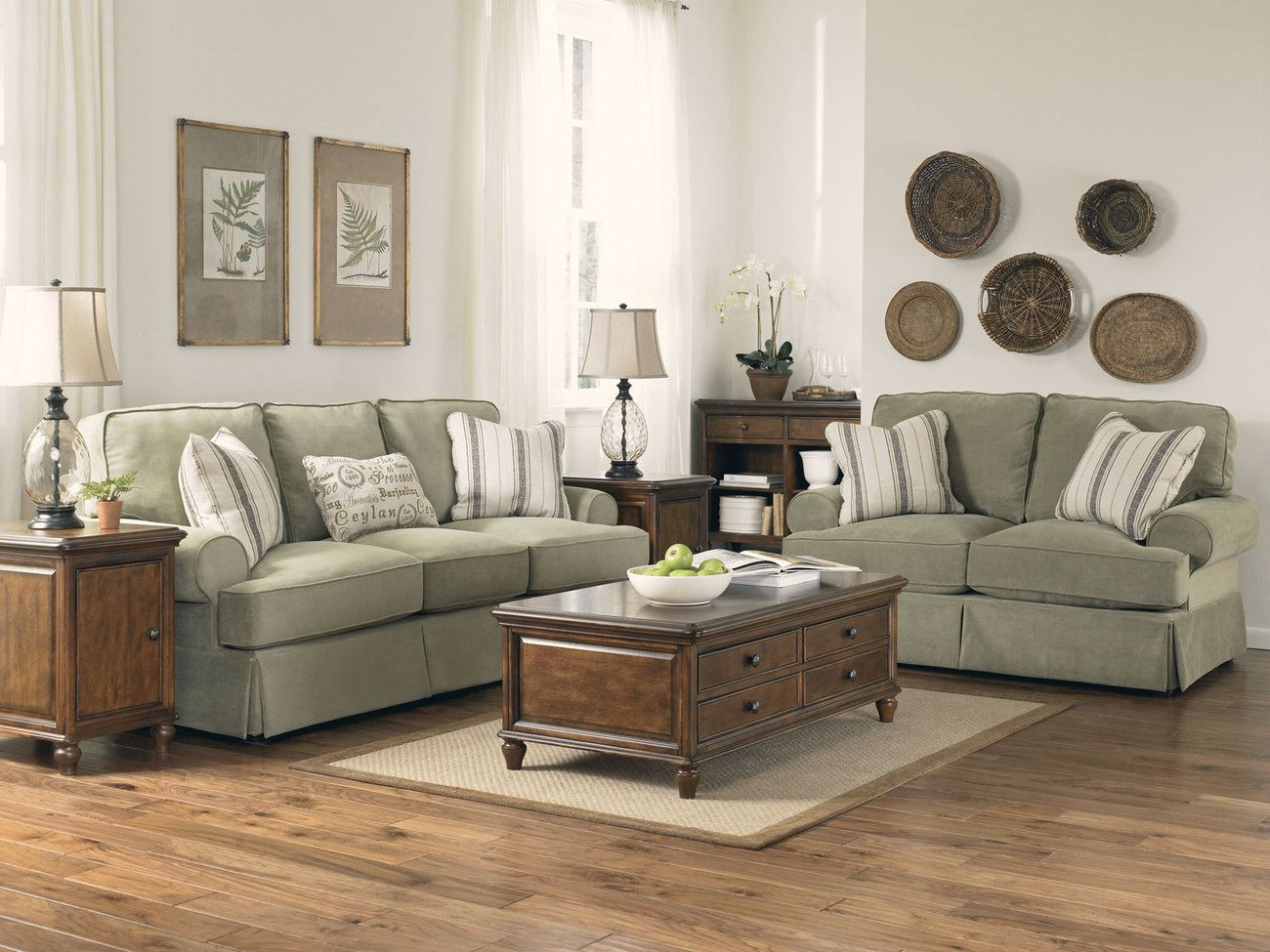 Sage green and brown living room modern house - Sage green living room ...