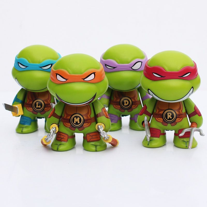 4 Sht Lot Tmnt Igrushki Anime Multfilm Tmnt Cherepashki Nindzya Q Versiya Pvh Figu Teenage Mutant Ninja Turtles Figures Ninja Turtles Teenage Mutant Ninja Turtles