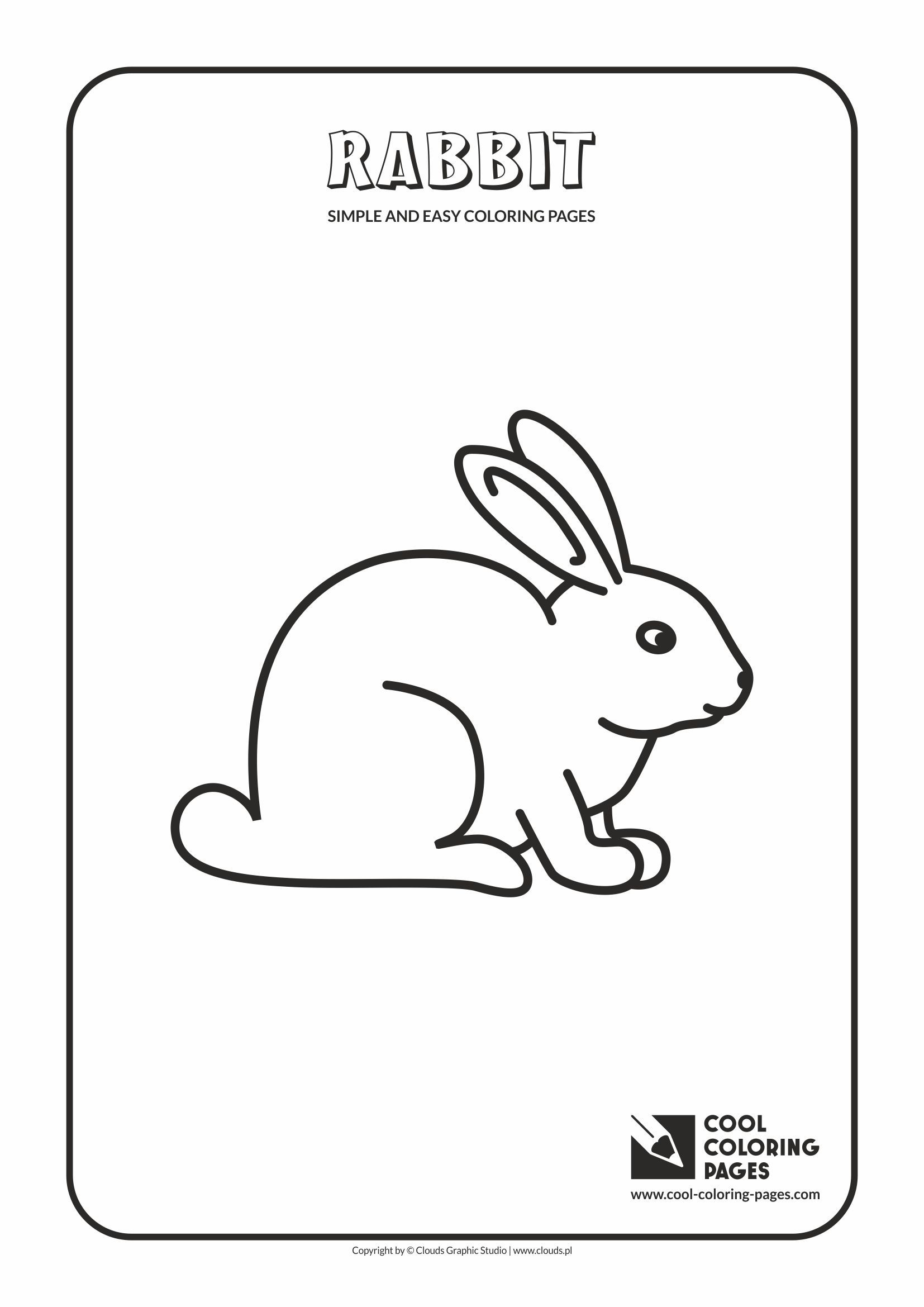 Simple And Easy Coloring Pages For Toddlers Rabbit Easy Coloring Pages Animal Cutouts Coloring Pages