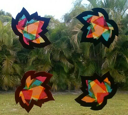 stained glass leaves my