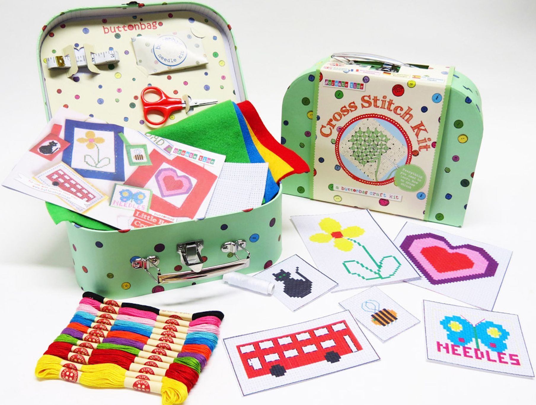 Children's Learn To Knit, Cross Stitch Or Crochet Kits