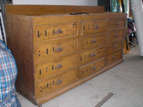 meuble metier bas 12 tiroirs 70x150x40 rome. Black Bedroom Furniture Sets. Home Design Ideas
