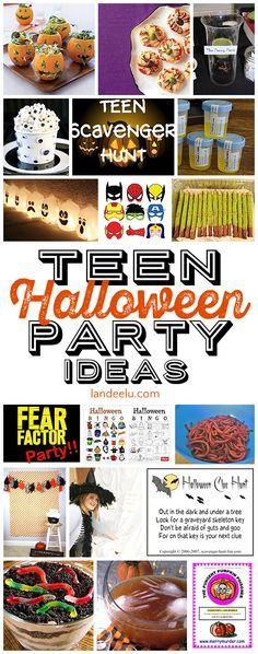 Teen Halloween Party Ideas Halloween Pinterest Halloween - halloween party ideas for teenagers