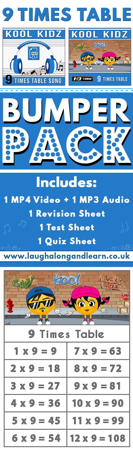 Learn Your 9 Times Table Quickly With Our Kool Kidz