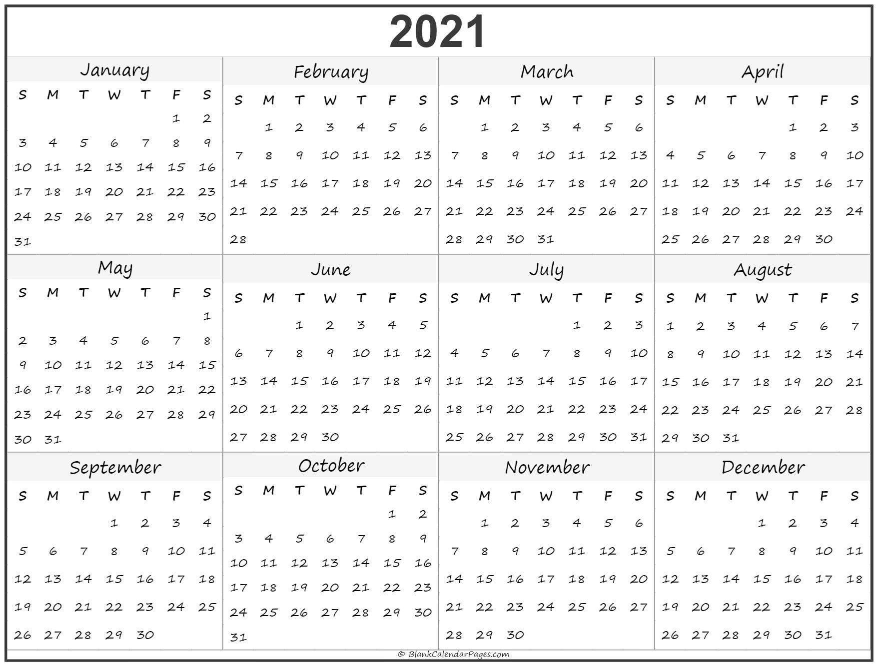 Calendar to Print 2021 Free All Months – Welcome to our weblog