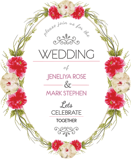 Graphic Design 10 Wedding Vector Design Wedding Vector Watercolor Flower Invitation Wreath Wedding Invitations