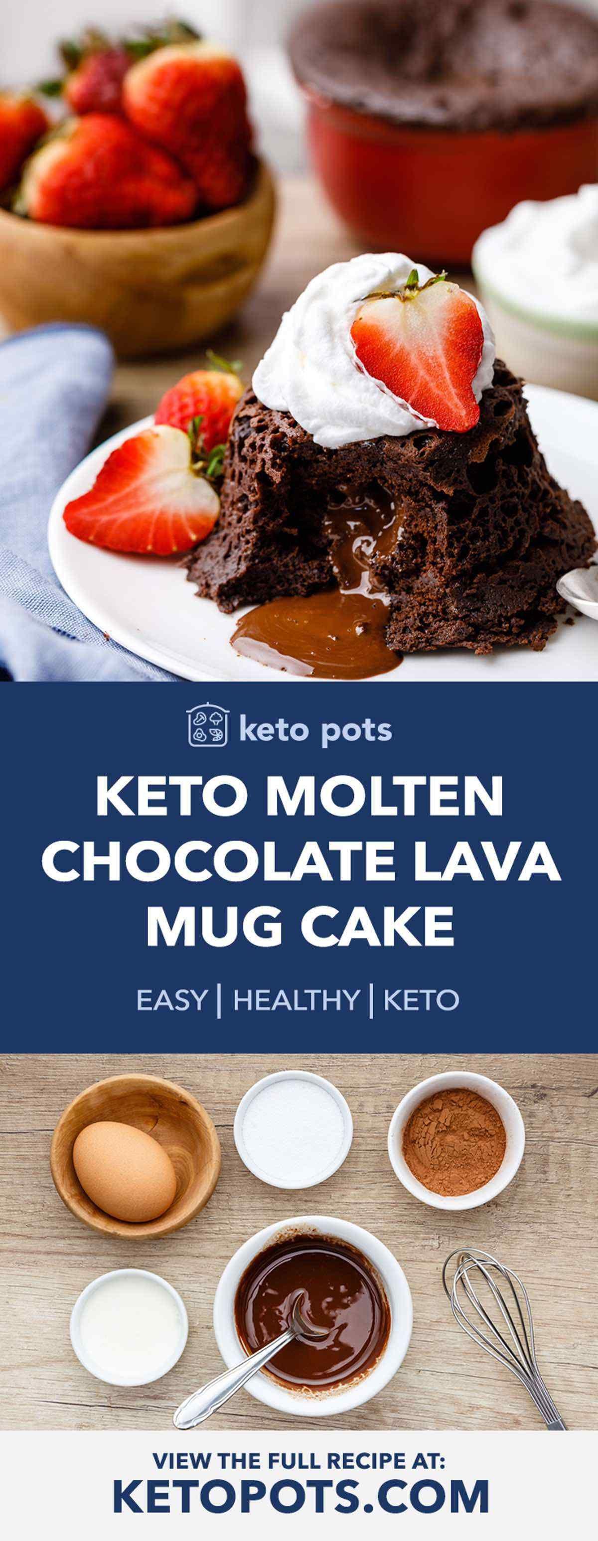 The Best Gooey Keto Molten Chocolate Lava Mug Cake - Keto ...