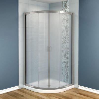 Maax Intuition 36 In X 36 In X 73 In Neo Round Shower Kit In