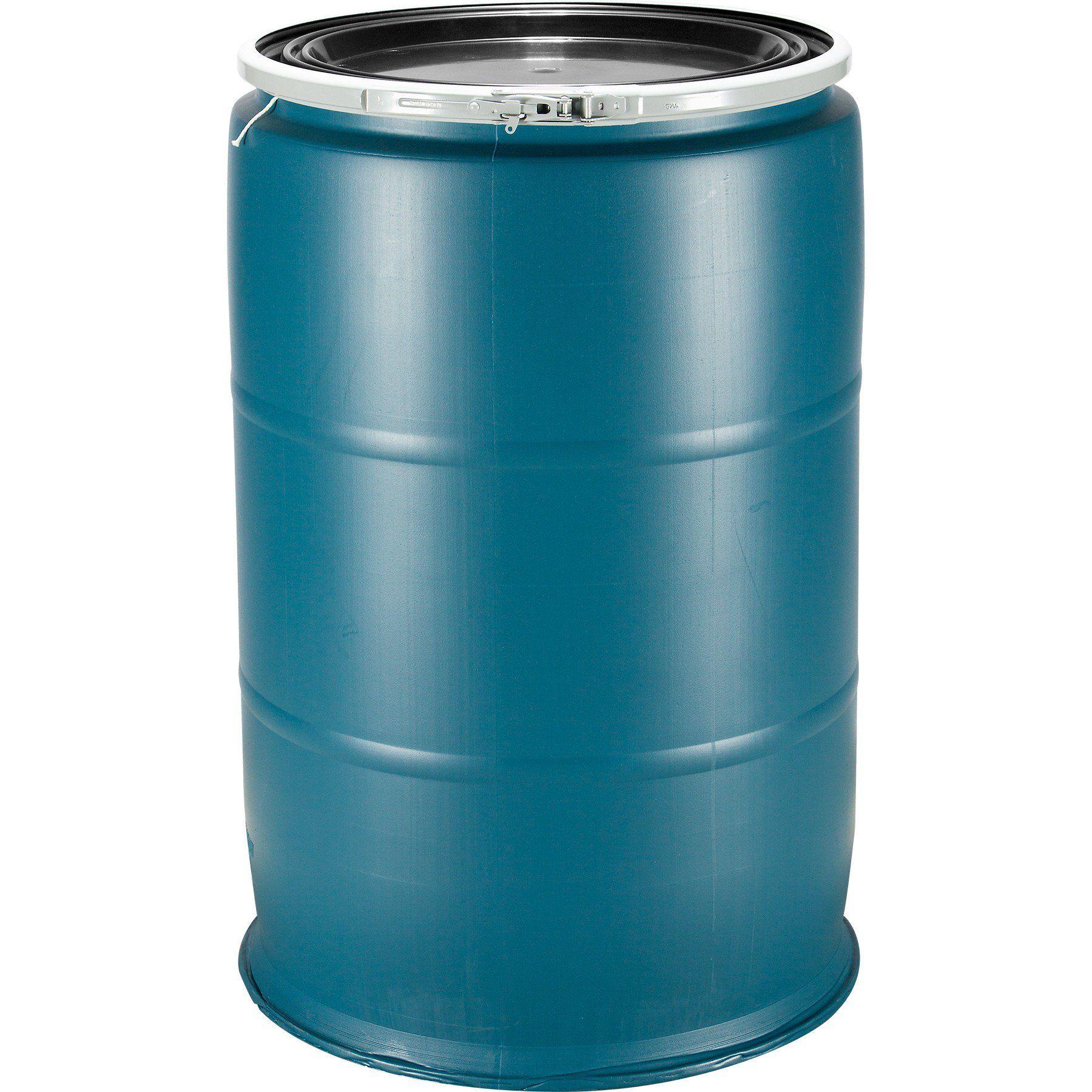 55 Gallon Plastic Drum, Reconditioned, Various Colors