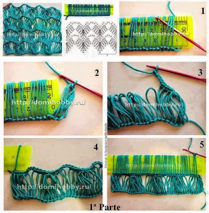 Crochet y dos agujas: Tejidos con horquilla | tejido | Pinterest ...